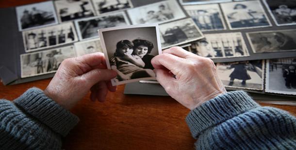 Elderly woman Grieving Process